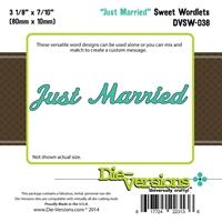 Εικόνα του Μήτρες Κοπής Steel Die Sweet Wordlets - Just Married
