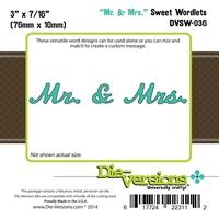 Εικόνα του Μήτρες Κοπής Steel Die Sweet Wordlets - Mr & Mrs