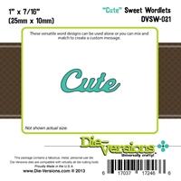 Εικόνα του Μήτρα Κοπής Steel Die Sweet Wordlets - Cute