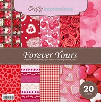Picture of Crafty Impressions Paper Pad 12X12 - Forever Yours
