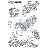 Picture of Clear Stamp  A6 - Pegasus