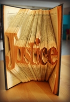 Picture of Book Folding Pattern - Justice