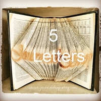 Picture of Folded Book - 5 Letters