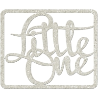 Picture of FabScraps Die-Cut Gray Chipboard Word - Little One