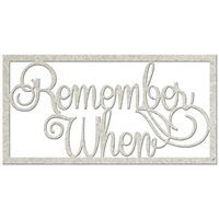 Picture of FabScraps Die-Cut Gray Chipboard Word - Remember When