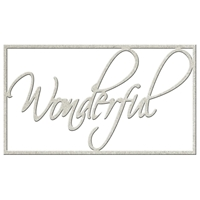 Picture of FabScraps Die-Cut Gray Chipboard Word - Wonderful