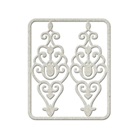 Εικόνα του FabScraps Die-Cut Gray Chipboard Shape - Filigree