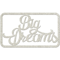 Εικόνα του FabScraps Die-Cut Gray Chipboard Word - Big Dreams