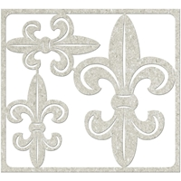 Picture of FabScraps Die-Cut Gray Chipboard Shape - Fleurs