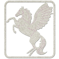 Picture of FabScraps Die-Cut Gray Chipboard Shape - Pegasus