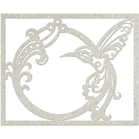 Picture of FabScraps Die-Cut Gray Chipboard Shape - Bird