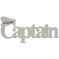 Picture of FabScraps Die-Cut Gray Chipboard Word - Captain