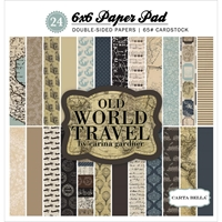 Picture of Carta Bella Double-Sided Paper Pad 6X6 - Old World Travel
