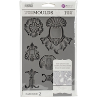 Picture of Iron Orchid Designs Vintage Art Decor Mould - Baroque 2