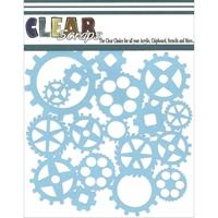 Εικόνα του Clear Scraps Stencil - Gears