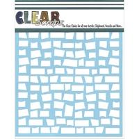 Εικόνα του Clear Scraps Stencil - Brick