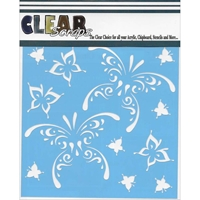 Εικόνα του Clear Scraps Stencil - Butterfly Tear Drops