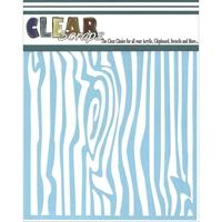 Εικόνα του Clear Scraps Stencil - Woodgrain