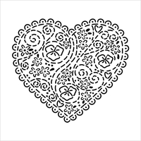 Picture of Crafter's Workshop Template 15x15 - Embroidered Heart