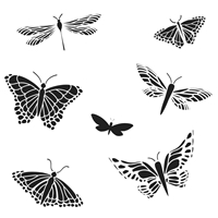 Picture of Crafter's Workshop Template 15x15 - Mariposas