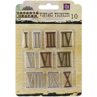 Picture of Mechanicals Metal Embellishments - Roman Numerals Large