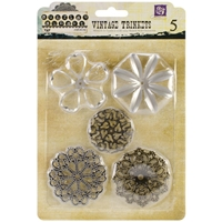 Picture of Mechanicals Metal Embellishments - Flower Shapes