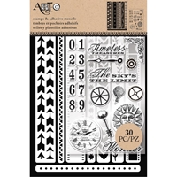 Picture of Art-C Stencil And Clear Stamp - Border Strips