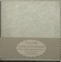 Εικόνα του Dovecraft Cards & Envelopes: Metallic Silver 15 X 15