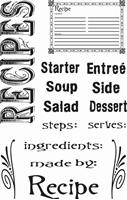 Εικόνα του Σετ Σφραγιδες Clear - Recipes