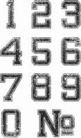 Εικόνα του Σετ Σφραγιδες Clear - Varsity Numbers