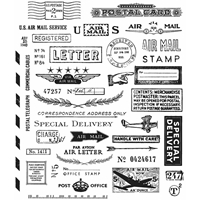 Picture of Tim Holtz Cling Mounted Stamp - Correspondence