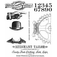 Εικόνα του Tim Holtz Cling Mounted Stamp - Dapper