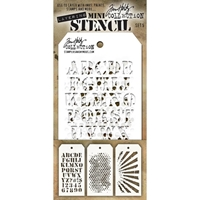 Εικόνα του Tim Holtz Mini Layered Stencil - Set 5