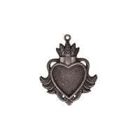 Εικόνα του A Gilded Life - Heart Bezel Large Silver