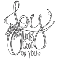 Εικόνα του Spellbinders Stamps - Joy Look Good On You