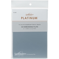 "Picture of Spellbinders Platinum 3D Embossing Plate 6""X8.5"""