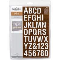 Εικόνα του Μήτρες Κοπής Spellbinders Platinum Contour Die - Type-Oh! Alphabet