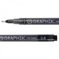 Picture of Graphik Line Marker - Black 0.8