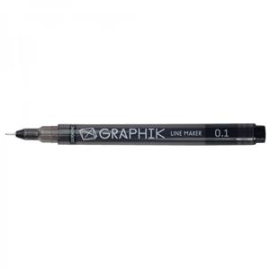 Picture of Graphik Line Marker - Black 0.5