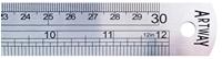 Εικόνα του Artway Steel Ruler 30cm - Ατσάλινος Χάρακας