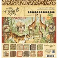 Εικόνα του Μπλοκ Χαρτιων Graphic 45 20X20 - Safari Adventure