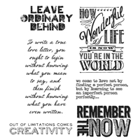 Εικόνα του Tim Holtz Cling Mounted Stamp - Random Quotes