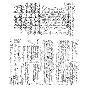 Picture of Tim Holtz Cling Mounted Stamp - Ledger Script