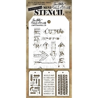 Εικόνα του Tim Holtz Mini Layered Stencil - Set 15