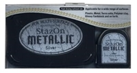 Εικόνα του Μελάνι StazOn Metallic Solvent Ink Kit - Silver