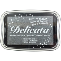 Picture of Delicata Pigment Ink Pad - Silvery Shimmer