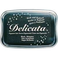 Picture of Delicata Pigment Ink Pad - Black Shimmer