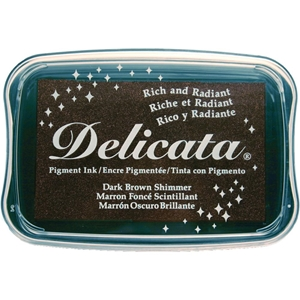 Picture of Μελάνι Delicata Pigment Ink Pad - Dark Brown Shimmer
