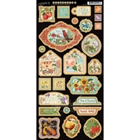 Picture of Time to Flourish Chipboard Die Cuts: Decorative