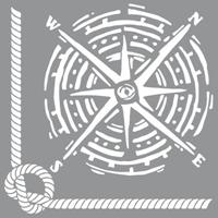 Εικόνα του Στενσιλ Nautical Knot - Americana Decor 30.5 x 30.5 cm
